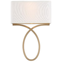 Crystorama BRK-A3702-VG Brinkley 2 Light 10 inch Vibrant Gold ADA Wall Sconce Wall Light