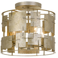 Crystorama BRO-4864-OX Bronson 4 Light 14 inch Oxidized Silver Flush Mount Ceiling Light