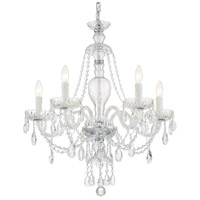Crystorama CAN-A1305-CH-CL-SAQ Candace 5 Light 25 inch Polished Chrome Chandelier Ceiling Light