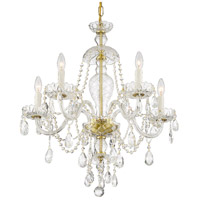 Crystorama CAN-A1305-PB-CL-SAQ Candace 5 Light 25 inch Polished Brass Chandelier Ceiling Light