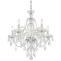 Crystorama CAN-A1306-CH-CL-SAQ Candace 5 Light 25 inch Polished Chrome Chandelier Ceiling Light