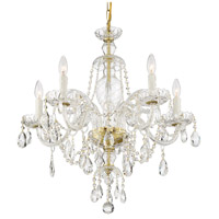 Crystorama CAN-A1306-PB-CL-SAQ Candace 5 Light 25 inch Polished Brass Chandelier Ceiling Light