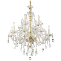 Crystorama CAN-A1312-PB-CL-SAQ Candace 12 Light 28 inch Polished Brass Chandelier Ceiling Light