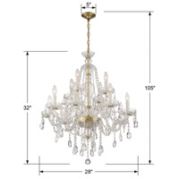 Crystorama CAN-A1312-PB-CL-S Candace 12 Light 28 inch Polished Brass Chandelier Ceiling Light alternative photo thumbnail