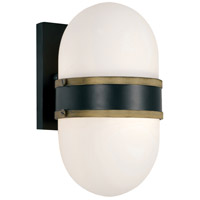 Crystorama CAP-8501-MK-TG Capsule 1 Light 10 inch Matte Black and Textured Gold Outdoor Wall Mount, Brian Patrick Flynn