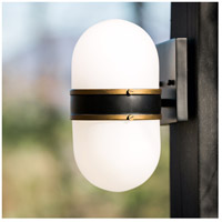 Crystorama CAP-8501-MK-TG Capsule 1 Light 10 inch Matte Black Outdoor Wall Mount, Brian Patrick Flynn alternative photo thumbnail