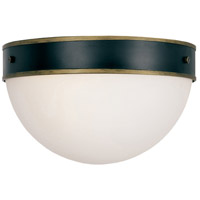 Capsule 2 Light 12 inch Matte Black and Textured Gold Outdoor Ceiling Mount, Brian Patrick Flynn