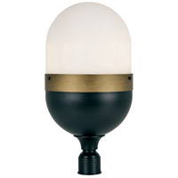 Crystorama CAP-8509-MK-TG Capsule 3 Light 23 inch Matte Black and Textured Gold Outdoor Lantern Post, Brian Patrick Flynn