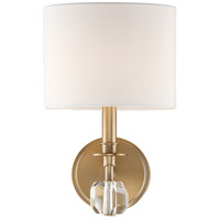 Crystorama CHI-211-AG Chimes 1 Light 8 inch Aged Brass Wall Sconce Wall Light in Vibrant Gold (VG)