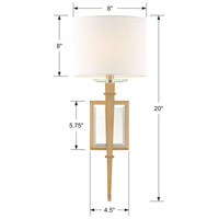 Crystorama CLI-231-AG Clifton 1 Light 8 inch Aged Brass Wall Sconce Wall Light in Aged Brass (AG) alternative photo thumbnail