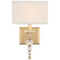 Crystorama CLO-8892-AG Clover 1 Light 10 inch Aged Brass Wall Mount Wall Light in Aged Brass (AG)