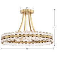 Crystorama CLO-8894-AG Clover 4 Light 18 inch Aged Brass Semi Flush Mount Ceiling Light in Aged Brass (AG) alternative photo thumbnail