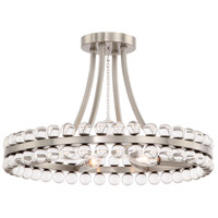 Crystorama CLO-8894-BN Clover 4 Light 18 inch Brushed Nickel Flush Mount Ceiling Light in Brushed Nickel (BN)