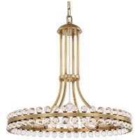Clover 8 Light 23 inch Aged Brass Chandelier Ceiling Light