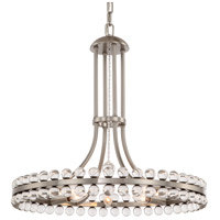 Crystorama CLO-8898-BN Clover 8 Light 23 inch Brushed Nickel Chandelier Ceiling Light in Brushed Nickel (BN)