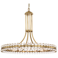 Clover 12 Light 29 inch Aged Brass Chandelier Ceiling Light