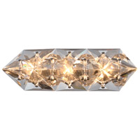 Crystorama COL-7903-CH Collins 3 Light 7 inch Polished Chrome Vanity Light Wall Light