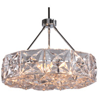 Crystorama COL-7906-CH Collins 6 Light 25 inch Polished Chrome Chandelier Ceiling Light