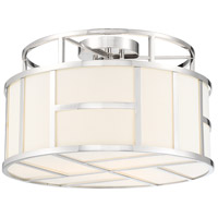 Crystorama DAN-400-PN Danielson 3 Light 17 inch Polished Nickel Ceiling Mount Ceiling Light in Polished Nickel (PN) photo thumbnail