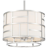 Crystorama DAN-404-PN Danielson 4 Light 17 inch Polished Nickel Chandelier Ceiling Light