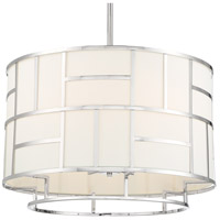 Crystorama DAN-406-PN Danielson 6 Light 25 inch Polished Nickel Chandelier Ceiling Light