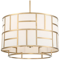 Crystorama DAN-406-VG Danielson 6 Light 25 inch Vibrant Gold Chandelier Ceiling Light