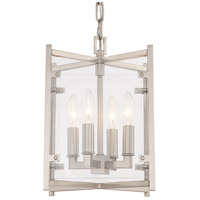 Crystorama DAN-8794-BN Danbury 4 Light 9 inch Brushed Nickel Chandelier Ceiling Light