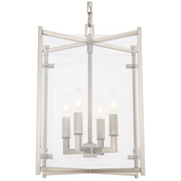 Crystorama DAN-8796-BN Danbury 4 Light 12 inch Brushed Nickel Chandelier Ceiling Light