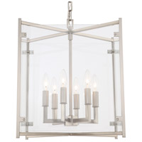 Crystorama DAN-8798-BN Danbury 6 Light 16 inch Brushed Nickel Chandelier Ceiling Light