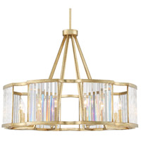 Crystorama DAR-1018-DT Darcy 8 Light 33 inch Distressed Twilight Pendant Ceiling Light