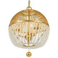 Crystorama DUV-623-GA Duval 3 Light 12 inch Antique Gold Chandelier Ceiling Light
