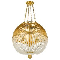 Crystorama DUV-626-GA Duval 6 Light 21 inch Antique Gold Chandelier Ceiling Light
