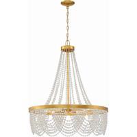 Crystorama FIO-A9104-GA-CL Fiona 4 Light 27 inch Antique Gold Chandelier Ceiling Light