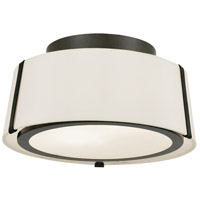 Crystorama FUL-903-BK Fulton 2 Light 12 inch Matte Black Semi Flush Mount Ceiling Light