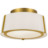 Crystorama FUL-903-GA Fulton 2 Light 12 inch Antique Gold Semi Flush Mount Ceiling Light