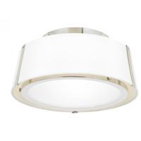 Crystorama FUL-903-PN Fulton 2 Light 12 inch Polished Nickel Flush Mount Ceiling Light in Polished Nickel (PN)
