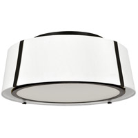 Crystorama FUL-905-BK Fulton 3 Light 18 inch Matte Black Semi Flush Mount Ceiling Light