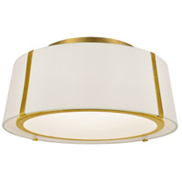 Crystorama FUL-905-GA Fulton 3 Light 18 inch Antique Gold Semi Flush Mount Ceiling Light