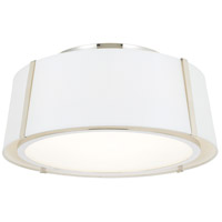 Crystorama FUL-905-PN Fulton 3 Light 18 inch Polished Nickel Flush Mount Ceiling Light in Polished Nickel (PN)