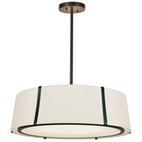 Crystorama FUL-907-BK Fulton 6 Light 24 inch Matte Black Chandelier Ceiling Light