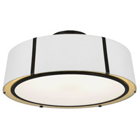 Crystorama FUL-907-BK_CEILING Fulton 6 Light 24 inch Matte Black Semi Flush Mount Ceiling Light