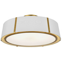 Fulton 6 Light 24 inch Antique Gold Semi Flush Mount Ceiling Light