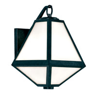 Glacier 1 Light 13 inch Black Charcoal Outdoor Wall Mount, Brian Patrick Flynn