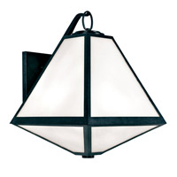 Glacier 3 Light 21 inch Black Charcoal Outdoor Wall Mount, Brian Patrick Flynn