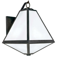 Glacier 3 Light 21 inch Black Charcoal Outdoor Wall Mount in Opal Frosted