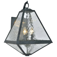 Crystorama GLA-9702-WT-BC Glacier 3 Light 21 inch Black Charcoal Outdoor Wall Mount in Water photo thumbnail
