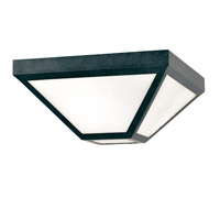 Glacier 2 Light 12 inch Black Charcoal Outdoor Ceiling Mount, Brian Patrick Flynn