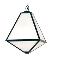 Glacier 3 Light 14 inch Black Charcoal Outdoor Chandelier, Brian Patrick Flynn