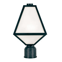 Glacier 1 Light 14 inch Black Charcoal Outdoor Lantern Post, Brian Patrick Flynn