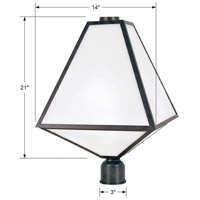 Crystorama GLA-9709-OP-BC Glacier 3 Light 21 inch Black Charcoal Outdoor Lantern Post in Opal Frosted alternative photo thumbnail